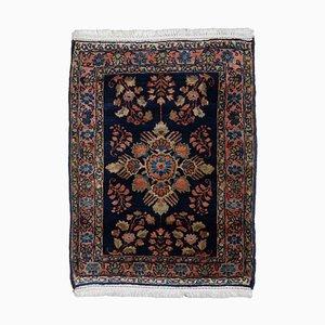 Antique Pink Floral Sarouk Carpet