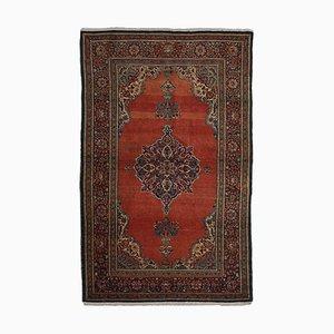 Floraler Vintage & Roter Keshan Teppich