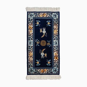 China Blue Floral Carpet