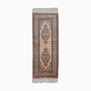 Floral Kayseri Runner in Dusky Pink Mercerized Cotton