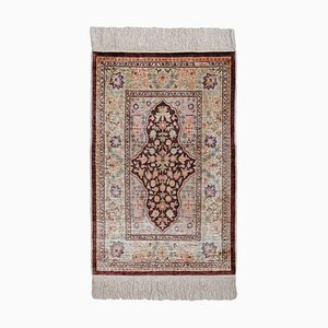 Brown Silk Floral Hereke Rug