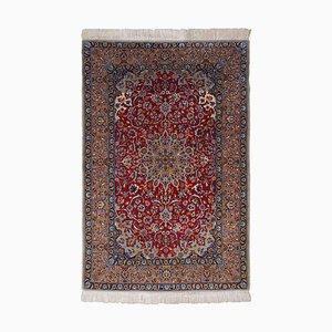 Geblümter Dunkelroter Isfahan Teppich