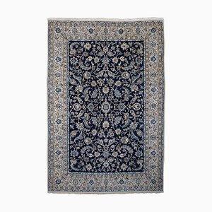 Dark Blue Floral Nain Rug