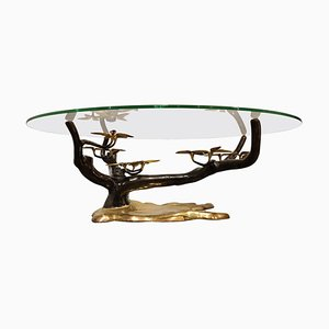 Bronze Bonsai Coffee Table by Willy Daro, 1970s
