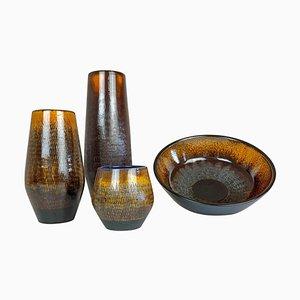 Mid-Century Modern Ceramic Vases from Upsala-Ekeby, 1960s, Set of 4
