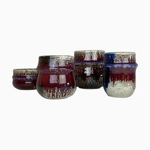 Mid-Century Keramik Stücke von Sylvia Leuchovius für Rörstrand, 1960er, 4er Set