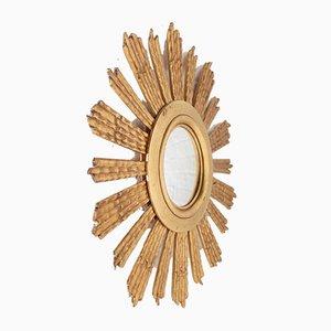 Miroir Sun en Bois Doré