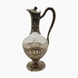 Weinkaraffe aus Silber & Glas von Marc Lalique