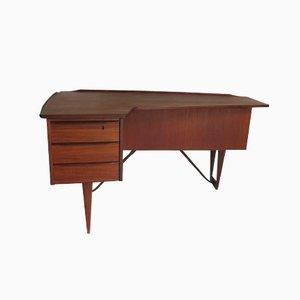 Boomerang Schreibtisch aus Teakholz von Peter Lovig Nielsen, 1950er