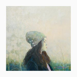 Una ragazza con un berretto a maglia, 2016