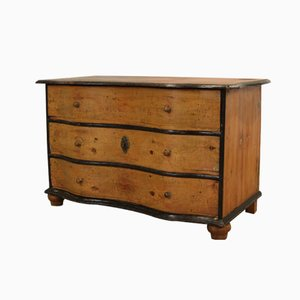Baroque Softwood Chest of Drawers, 1780s