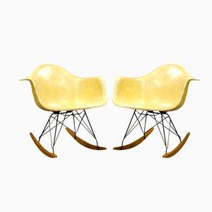 Sillas RAR primera edición de Charles & Ray Eames para Zenith Plastics. Juego de 2