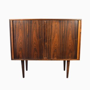 Brazilian Rosewood Tambour Door Cabinet by Kai Kristiansen