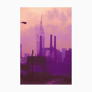 Vue de Manhattan de Long Island City, 1989