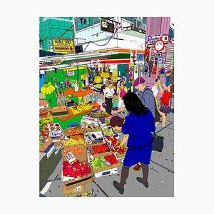 Gage Street Fruits Ecke, HK, 2019