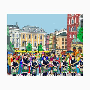 Folk in Krakow Square, 2020