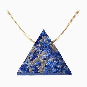 18 Carat Gold and Lapis Lazuli Necklace
