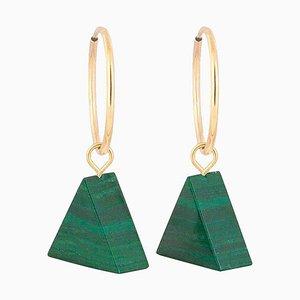 Hoop Earrings - Malachite