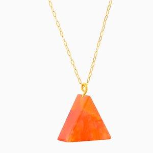 Triangle Necklace - Carnelian