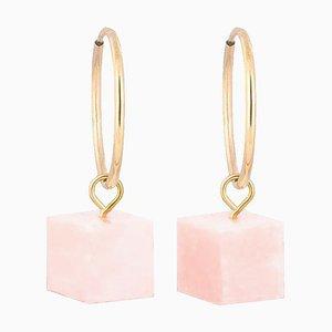 Orecchini a cerchio - Opal rosa