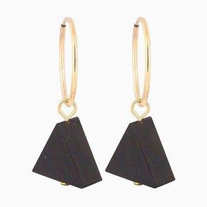 Hoop Earrings - Black Onyx
