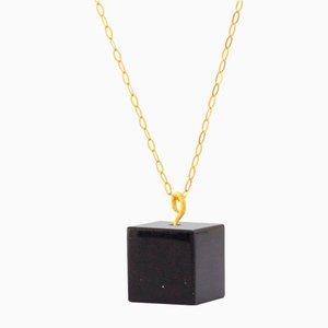 Cube Necklace - Black Onyx