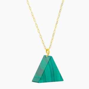 Triangle Necklace - Malachite