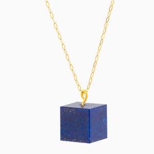 Cube Necklace - Lapis Lazuli