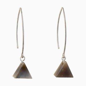 Drop Earrings - Flint Triangle