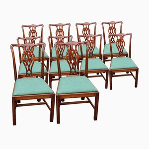 Mahogany Dining Chairs with Pop Out Seats, 1960s, Set of 10