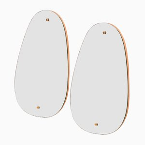 Miroirs Scandinaves Vintage, 1960s, Set de 2