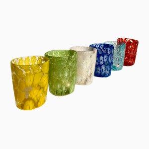 Set da bere Primavera vintage in vetro di Murano di Maryana Iskra e Alessandro Maso per Ribes Studio, set di 6