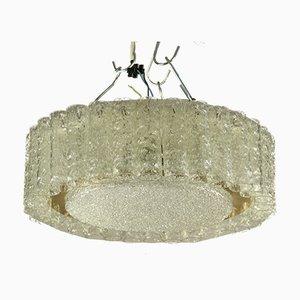 Röhrenförmige Vintage Deckenlampe aus Glas von Doria Leuchten, 1960er