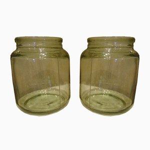 Vintage Glass Jars, 1950s or 1960s, Set of 2