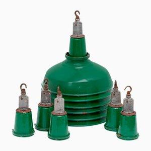 Industrial Enameled Ceiling Lamp