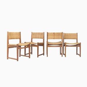 Modell 350 Stühle von Peter White & Orla Moelgard-Nielsen für Søborg Møbelfabrik, 1960er, 4er Set