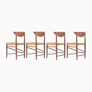Model 316 Dining Chairs by Peter White & Orla Moelgard-Nielsen for Søborg Møbelfabrik, 1958, Set of 4