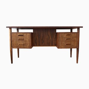 Danish Rosewood Floating Desk by Gunnar Nielsen for Tibergaard, 1960s