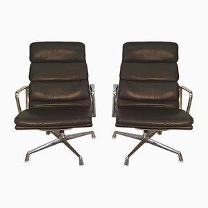 Deutsche EA215 Aluminium Group Polsterstühle von Charles & Ray Eames für Herman Miller, 1970er, 2er Set