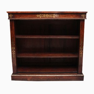 Early 19th Century Rosewood and Brass Inlaid Open Bookcase