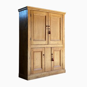 Antique Victorian Pine Housekeepers Cupboard, 19th Century, 1890s