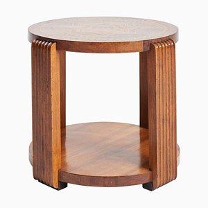 Großer Art Deco Tisch mit Holzplatte