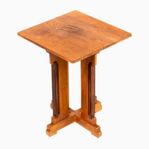 Art Deco Oak and Macassar Side Table by Piet Izeren for Genneper Mill, 1930s