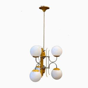 Gelbe Deckenlampe von Stilnovo, 1950er