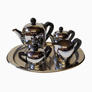 Tea Service from Alessi, 1940s, Set of 5
