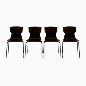 Palisander Stühle von Eromes, 4er Set