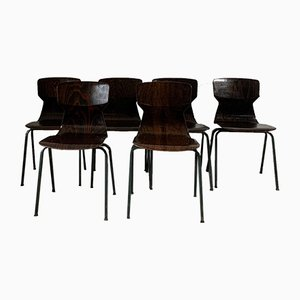Palisander Stühle von Eromes, 6er Set