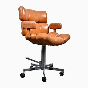 Faux Leather Swivel Chair