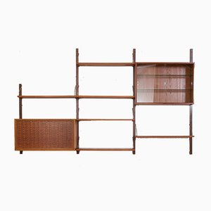 Danish Teak Royal Cadovius Wall Unit by Poul Cadovius for Cado, 1960s