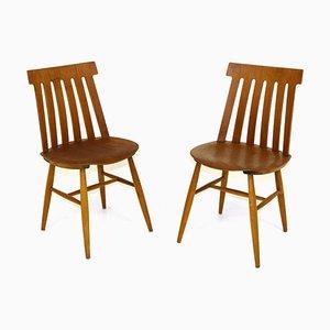 Schwedische Stühle von Jan Hallberg für Tallåsen, 1960er, 2er Set